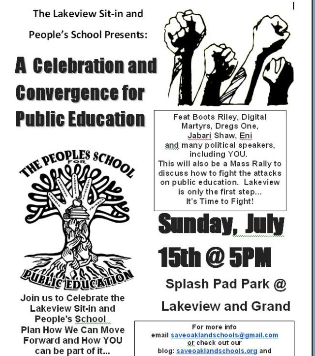 Celebrate and Continue the Fight for Public Education on July 15th @ 5pm